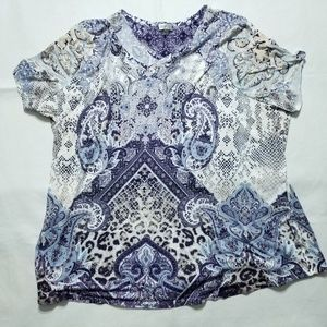 Avenue Colorful Top  100% Polyester